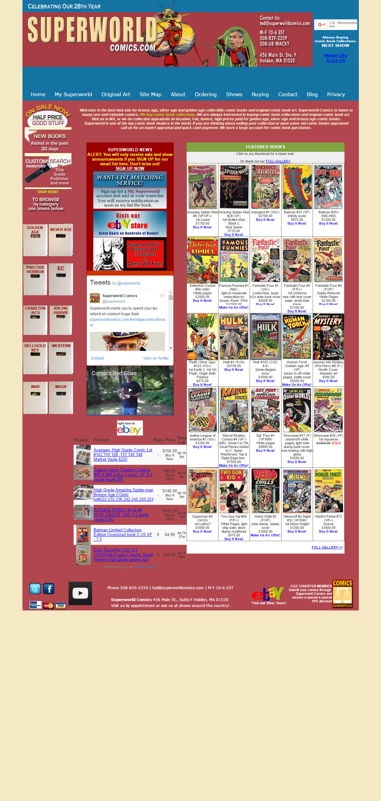 Superworld Comics Website - before